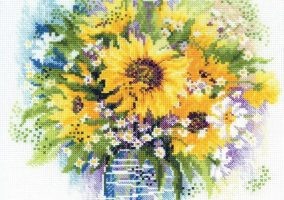"Вышивка ""Watercolor sunflowers"""