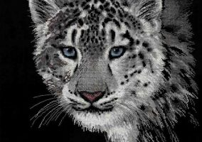"Embroidery ""Snow leopard"""