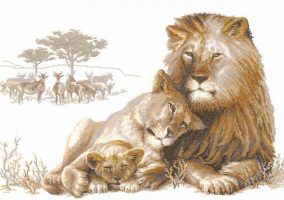 "Embroidery ""Lion's Paradise"""