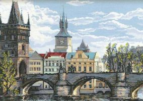 "Embroidery ""Prague Charles bridge"""
