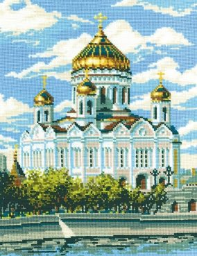 "Embroidery ""The Cathedral Of Christ The Savior"""