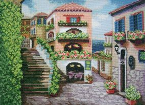 """Broderi """"Streets of Italy"""""""
