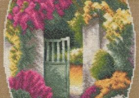 "Embroidery ""Garden gate"""