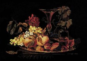 "Broderie ""Nature morte aux figues"""