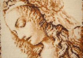 "Embroidery ""Female portrait"""