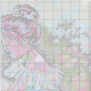 Embroidery scheme Charming ballerina (Dimensions) 2 from 6