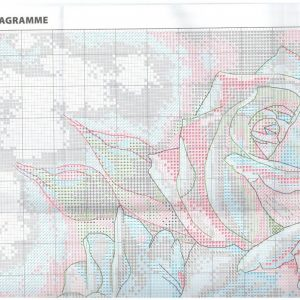 Schematic of belye Rozy embroidery (Dimensions) 1 from 4