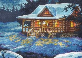 "Embroidery ""Bungalow in the moonlight"""