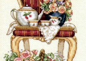"Broderie ""Timp Tea Party"""