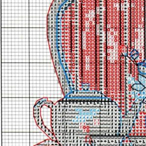 Tea time stitch diagram (Dimensions) 1 from 4