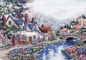 "Embroidery ""The valley of the river Beck"""