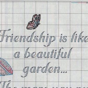 Embroidery scheme Friendship dedicated to (Dimensions) 2 from 5