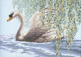"Kirjonta ""Swan at Willow"""