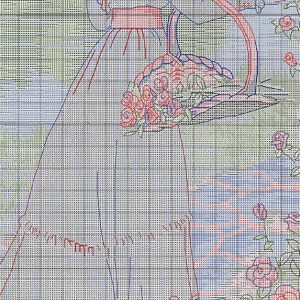Embroidery scheme Summer walk (Dimensions) 2 from 3