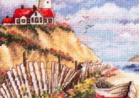 "Broderie ""Lighthouse pe stâncă"""