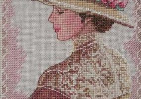 "Embroidery ""Portrait of a lady"""
