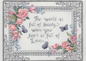"Embroidery ""Heart, full of love"""