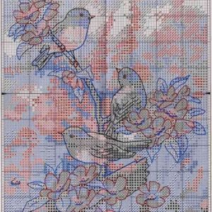 Embroidery Titmouse in the spring (Dimensions)