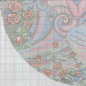 Embroidery scheme Peaceful garden (Dimensions) 3 from 4