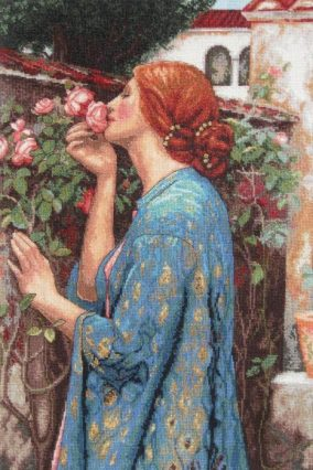 "Browse embroidery ""The smell of roses"" from Dimensions"