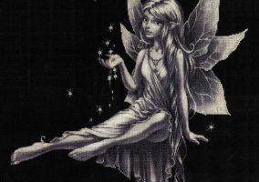 "Embroidery ""Silver fairy"""