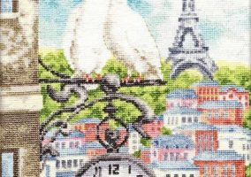 "Broderie ""Printemps à Paris"""