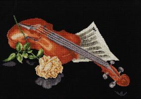 "Embroidery ""Musical sketch"""