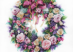 "Embroidery ""Wreath of roses"""