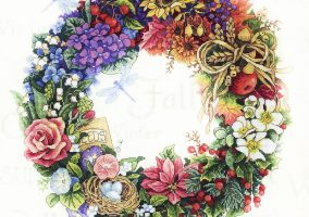 "Embroidery ""Wreath of all Seasons"""