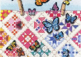 "Bordado ""Butterflies on Nine-Patches"""