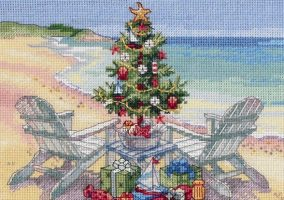 Stickerei «Christmas on the Beach»