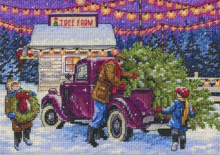 Вышивка Holiday tree farm (Dimenzije)