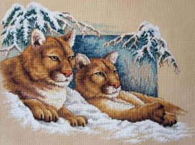 "Embroidery ""Snow Cougar"""