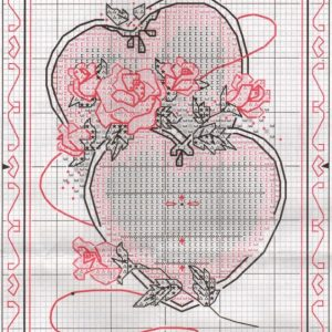 Схема вышивки United Hearts Wedding Record (Dimensions)