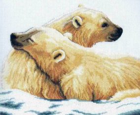 Broderie « Arctic love »