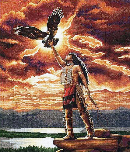 Вышивка Gift of the Eagle Feather (Afmeting)