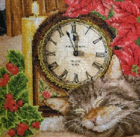 "Broderie ""Sleeping cat"""