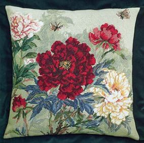 "Embroidery ""Peonies and moths"""