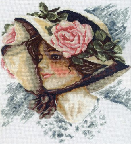 Embroidery Vintage Rose (RTO)