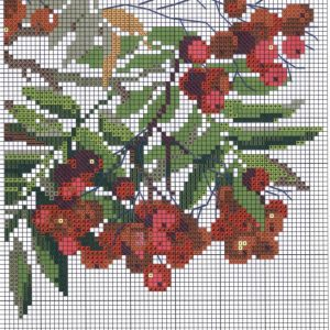 Embroidery scheme Rowan (Riolis) 6 from 6