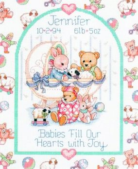 "Embroidery ""Babies Fill Our Hearts"""
