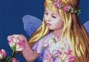 "Cross-stitch ""Rose Fairy"""