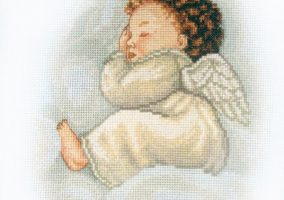 "Cross-stitch ""Angel"""
