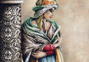 "Cross stitch ""Moorish Woman"""
