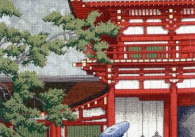 "Cross-stitch ""Kasuga Shrine Nara"""