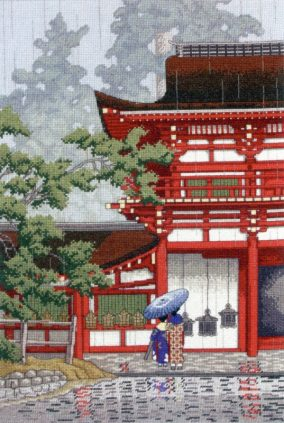 "Výšivky cross stitch ""Kasuga Shrine Nara"""