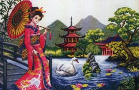 "Cross-stitch ""Oriental Tranquility"""