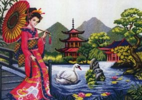 "Ristipisto ""Oriental Tranquility"""