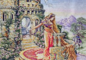"Cross stitch ""Rapunzel"""