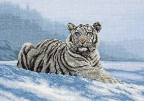 "Cross stitch ""Siberian tiger"""